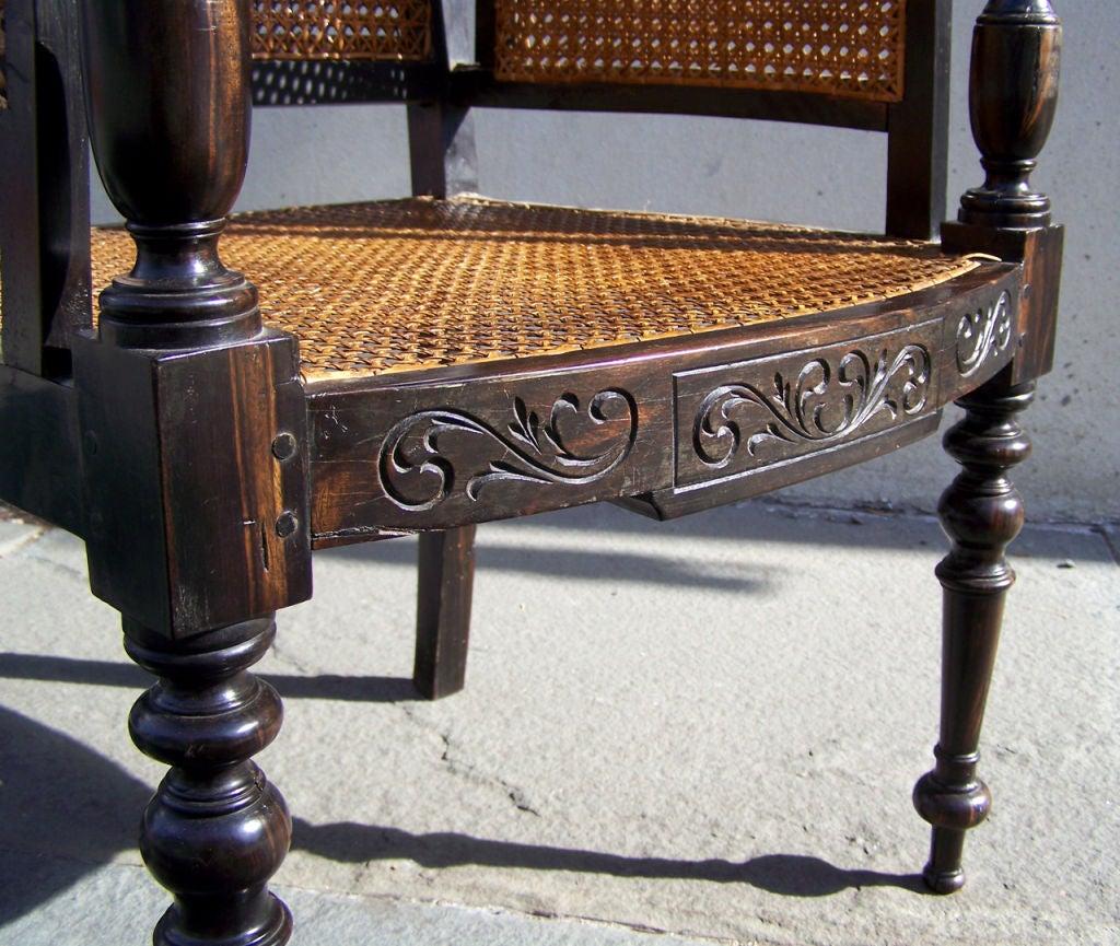 British Colonial Coromandel Chair At 1stdibs