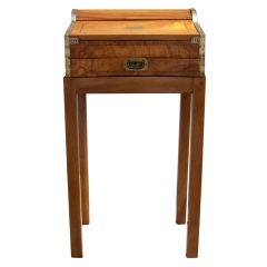 China Trade Roll Top Lap Desk on Stand, 1830s