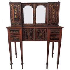 Early 19th C English Regency Coromandel Canterbury Desk