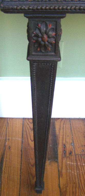 18th Century and Earlier Signed 1790s Adams Console Table For Sale