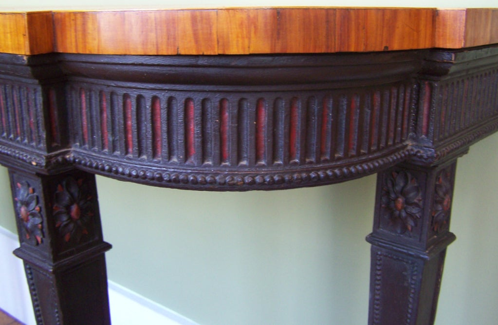 Signed 1790s Adams Console Table For Sale 1