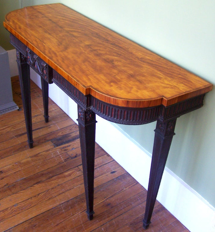 Signed 1790s Adams Console Table For Sale 2