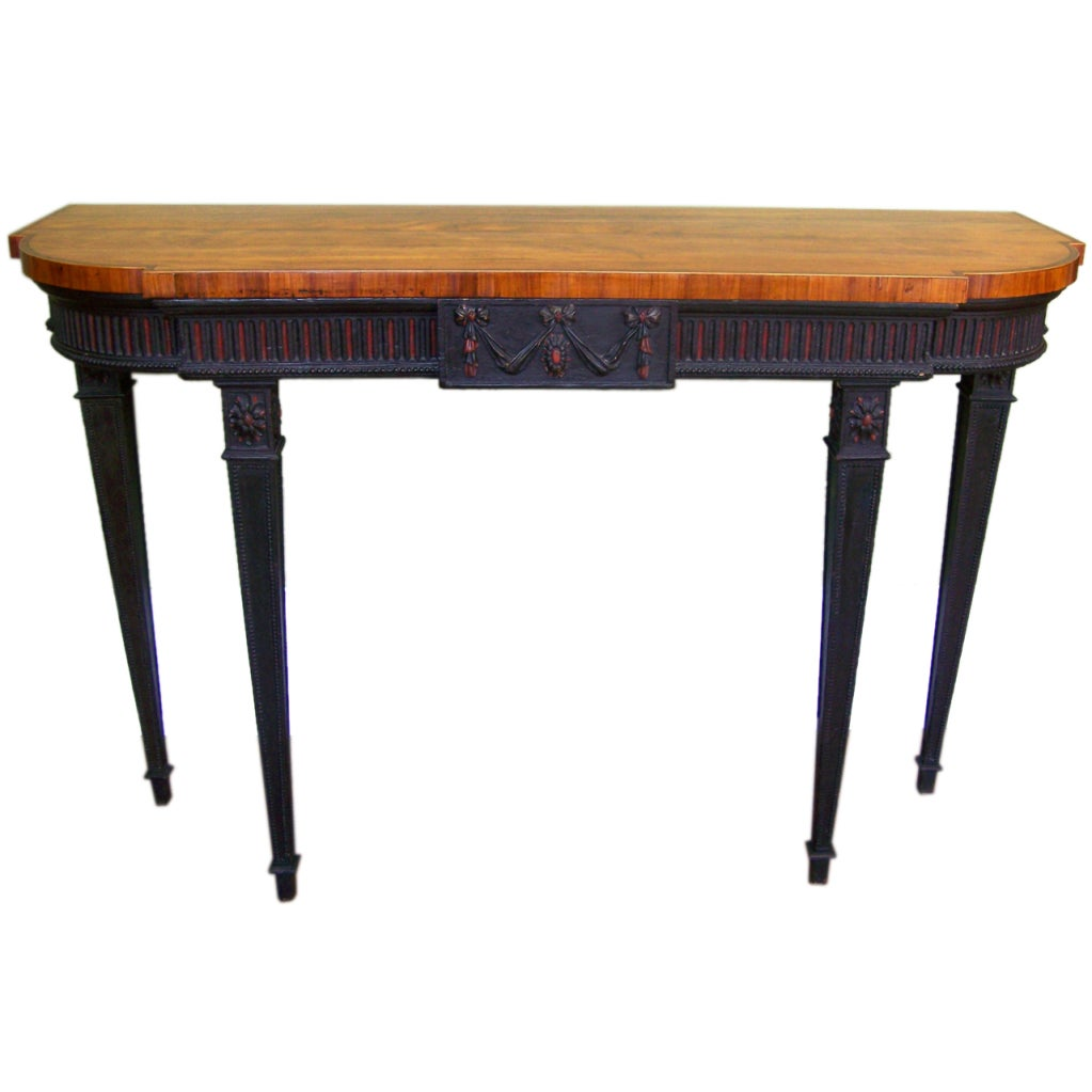 Signed 1790s Adams Console Table