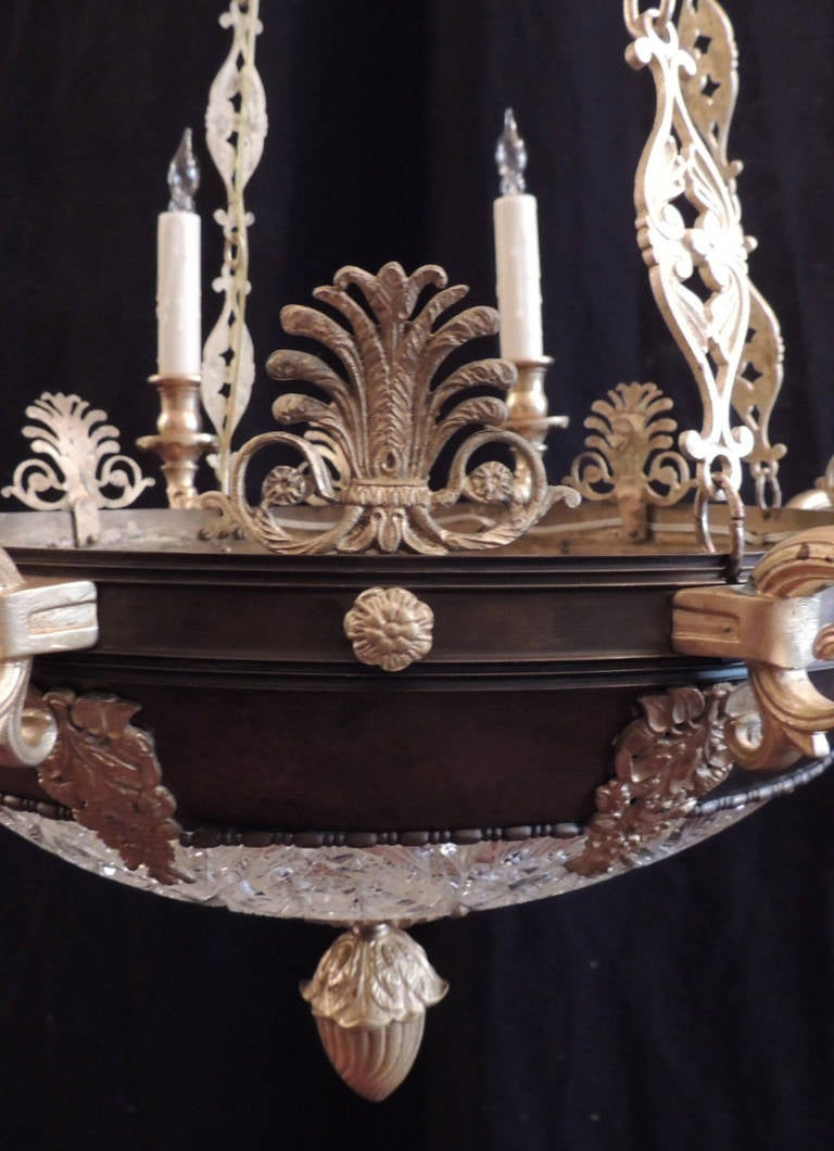 20th Century Early 20th C French Empire Chandelier For Sale