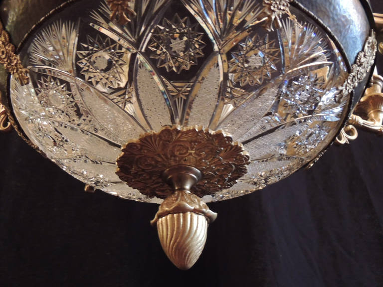 Early 20th C French Empire Chandelier For Sale 2
