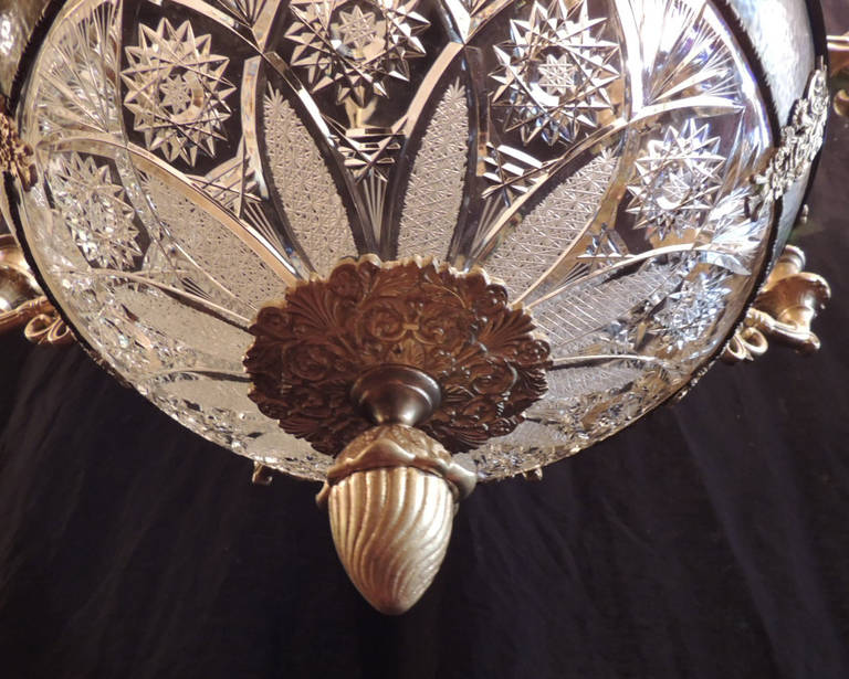 Early 20th C French Empire Chandelier For Sale 3