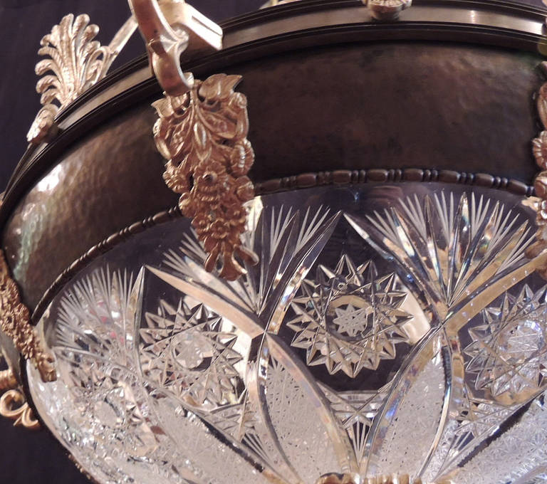Early 20th C French Empire Chandelier For Sale 4