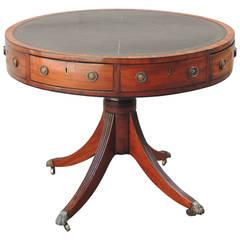 Late 18th Century English Mahogany Drum Table