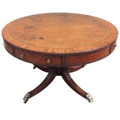 19th C English Regency Mahogany Rent Table