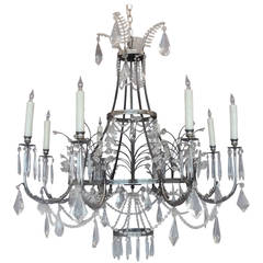 Early 20th C Russian Empire Style Chandelier