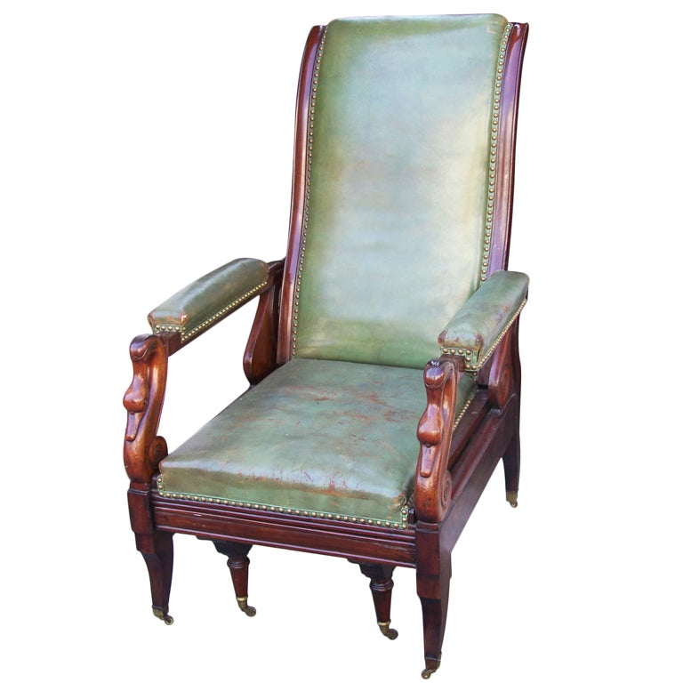 1840s Metamorphic English Campaign Officer S Chair Bed At