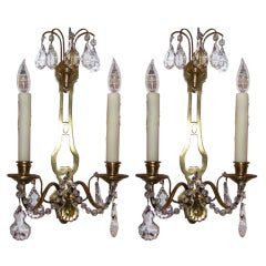 Early 20th C Pair of French Directoire Style Sconces
