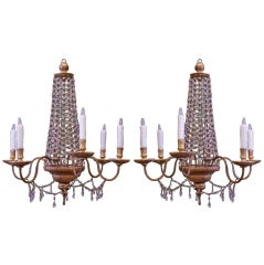 Pair of Early 19th century Italian Empire Chandeliers