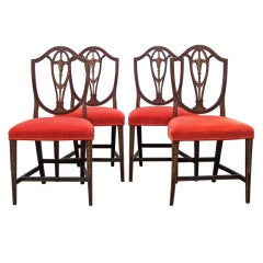 Set of Four Adams English Side Chairs