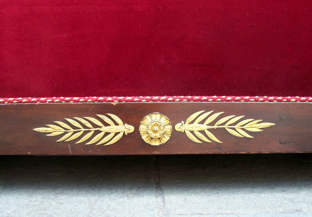 Early 19th C Italian Empire Mahogany Day Bed  or Bench 9
