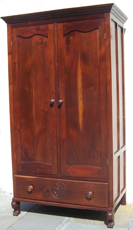 Jamaican rare regency armoire at 1stdibs for Case in stile british west indies