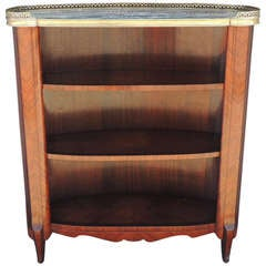 20th C French Marble-Top Bookcase