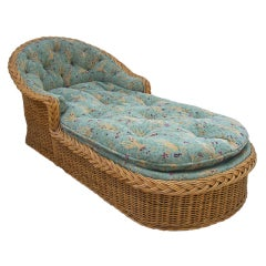 20th century Wicker Chaise Lounge