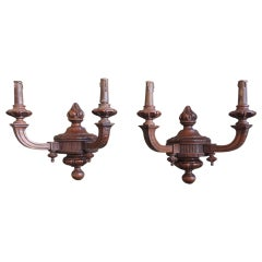 Early 20th C Italian Wood Sconces