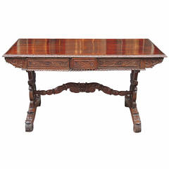 19th Century Anglo-Indian or British Colonial Rosewood Desk
