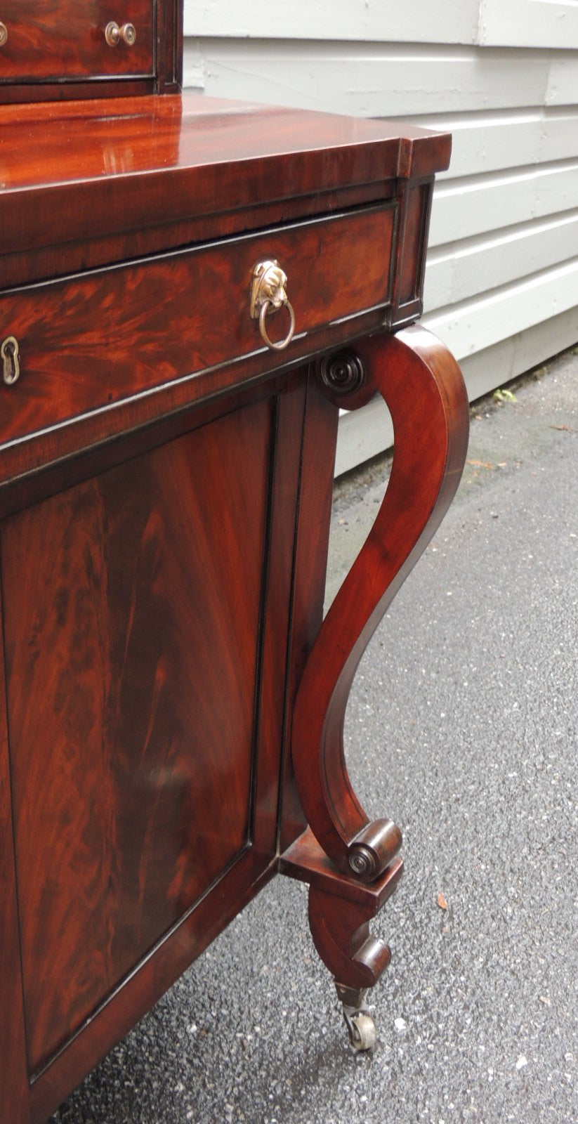 Early 19th C English Regency Mahogany Credenza For Sale 5