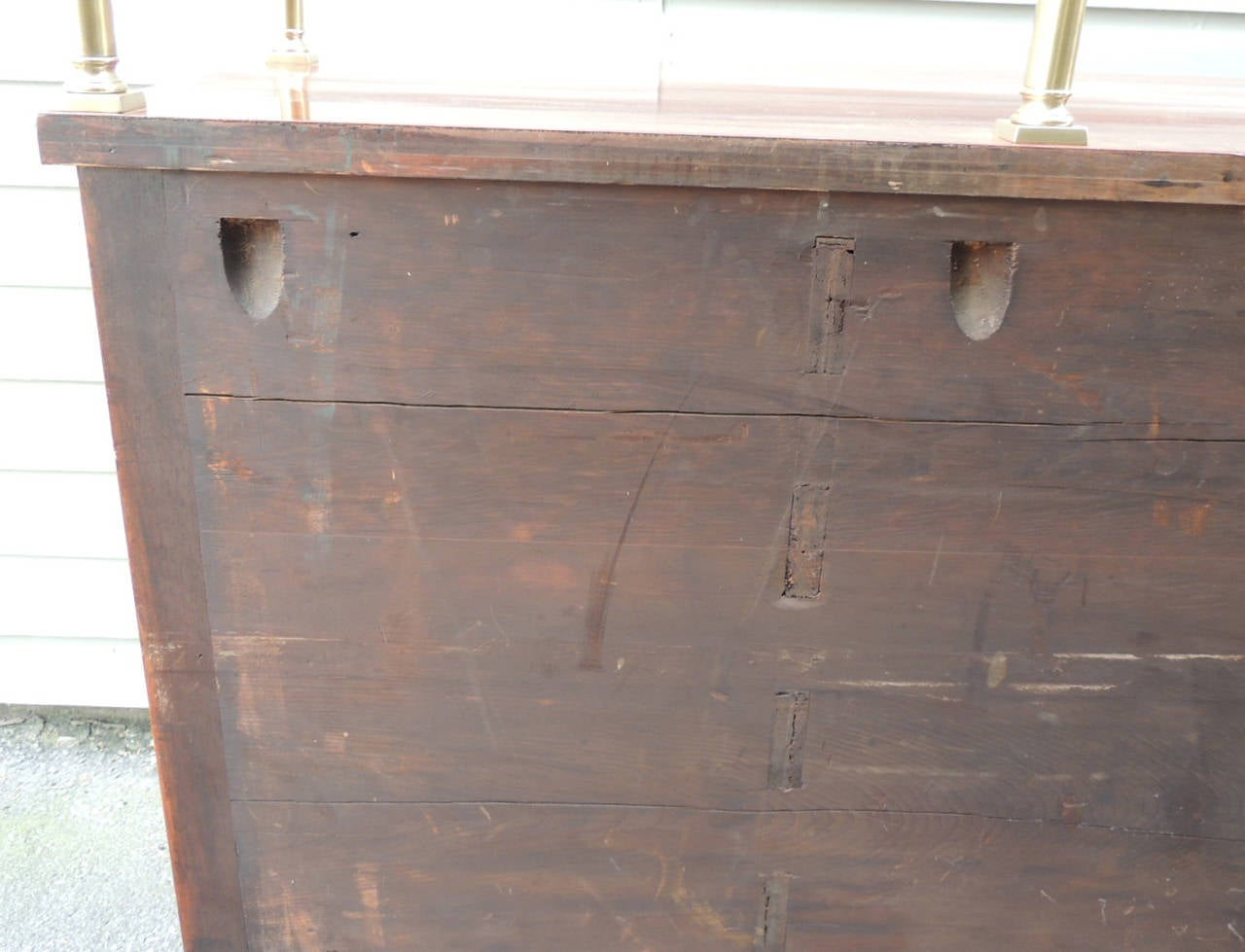 American Classical Early 19th C Virginia Sheraton Mahogany Sideboard with Gallery For Sale