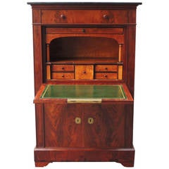 Early 19th Century New York Mahogany Secrétaire à Abattant with Tulipwood