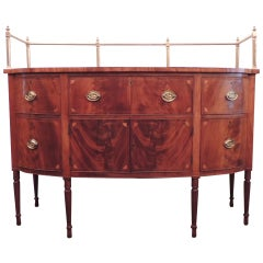 Early 19th C Sheraton Mahogany Sideboard with Gallery