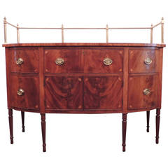 Early 19th C Virginia Sheraton Mahogany Sideboard with Gallery