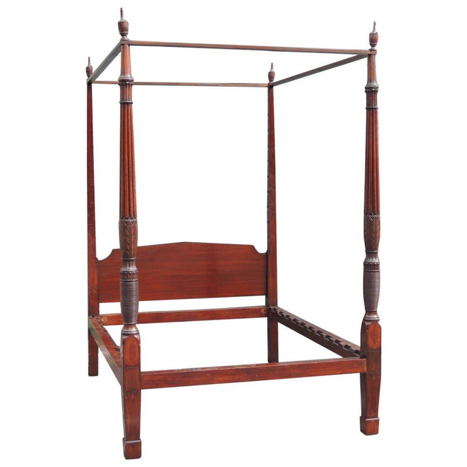 early 19th century charleston mahogany four poster bed. Black Bedroom Furniture Sets. Home Design Ideas