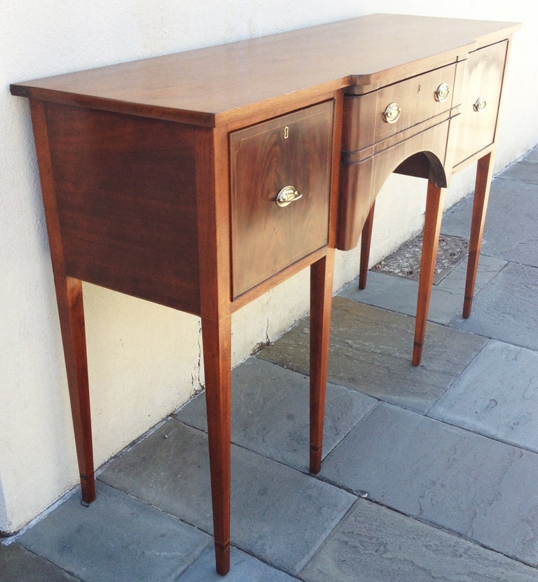 Mahogany Late 18th century American Sideboard For Sale