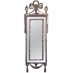 18th C Italian Silver Leaf Mirror