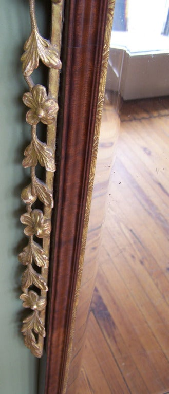 18th Century and Earlier 18th C Dutch Queen Anne Mahogany Filigree and Giltwood Mirror For Sale