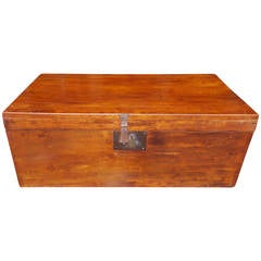 English Lime Wood Military Campaign Chest, Circa 1810