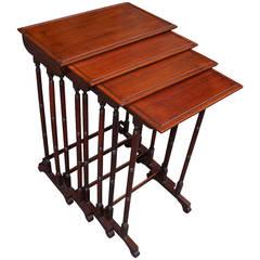 English Regency Mahogany Nest of Tables, Circa 1815