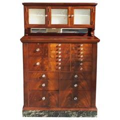 American Mahogany Dental Cabinet.  Circa 1890