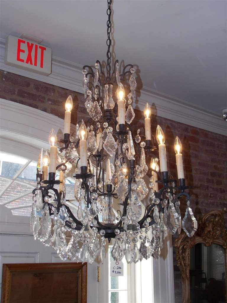 French bronze and crystal two tiered chandelier circa 1830 at 1stdibs - Circa lighting chandeliers ...