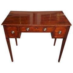 English Hepplewhite Mahogany Writing Table.  Circa 1790