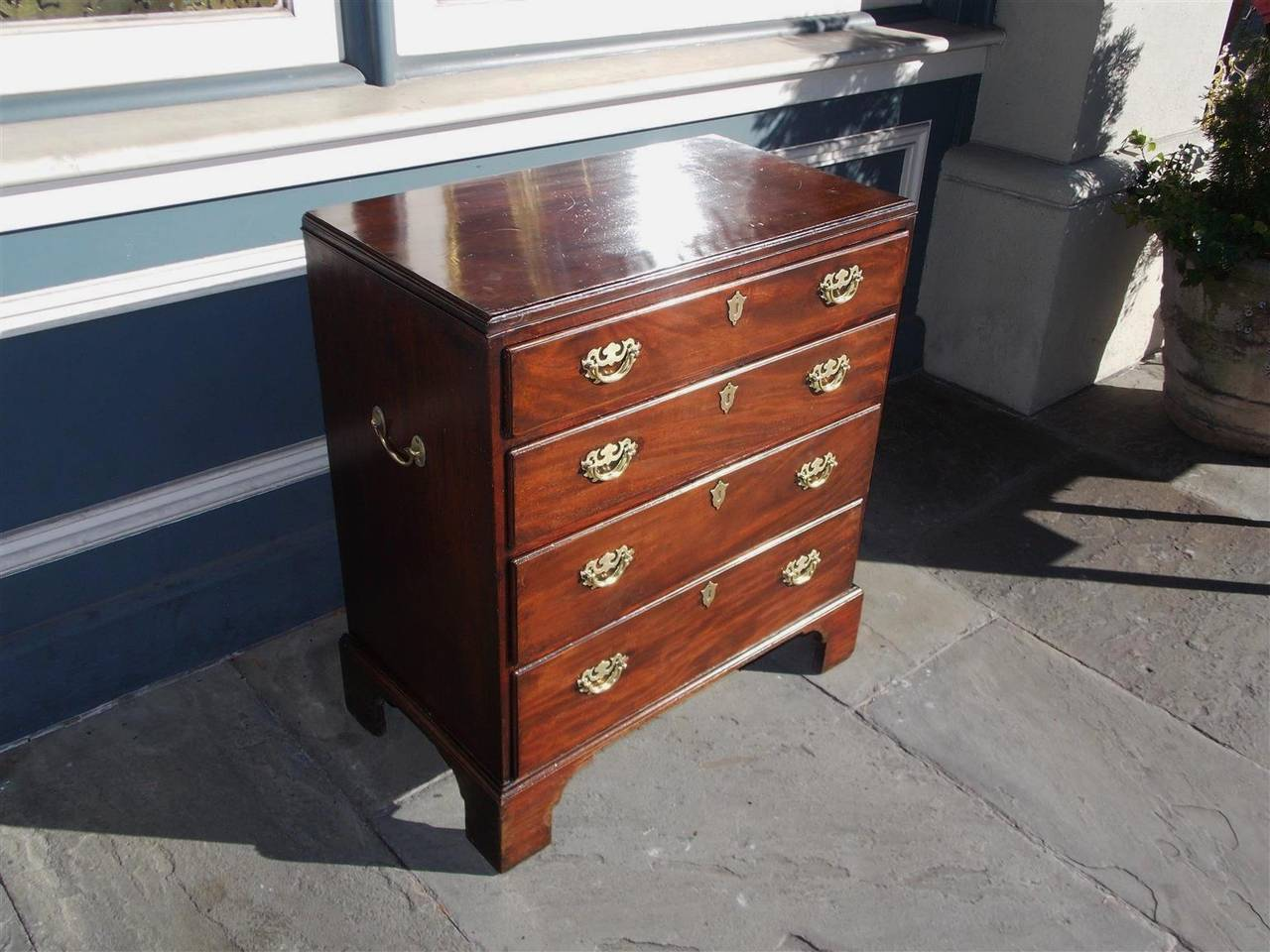 George II English Chippendale Mahogany Bachelors Chest, Circa 1760 For Sale