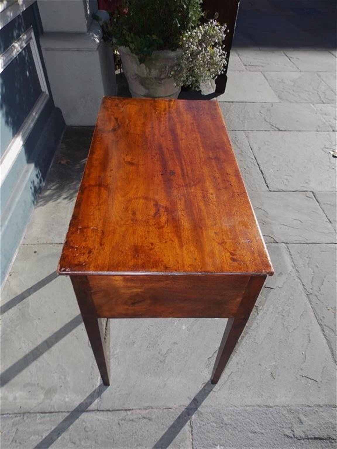 English Hepplewhite Mahogany Three Drawer Writing Table.  Circa 1790 For Sale 1