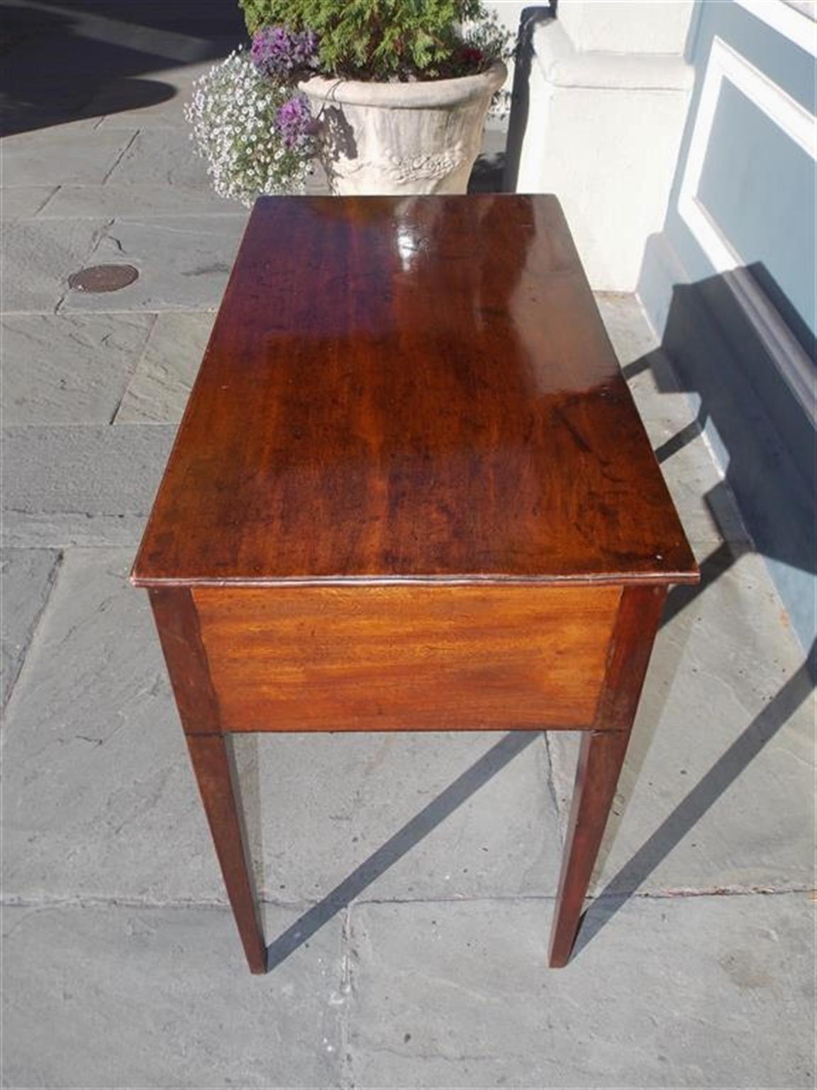 English Hepplewhite Mahogany Three Drawer Writing Table.  Circa 1790 For Sale 2