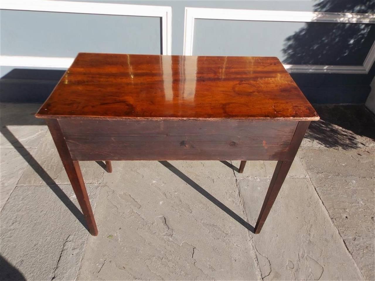 English Hepplewhite Mahogany Three Drawer Writing Table.  Circa 1790 For Sale 3