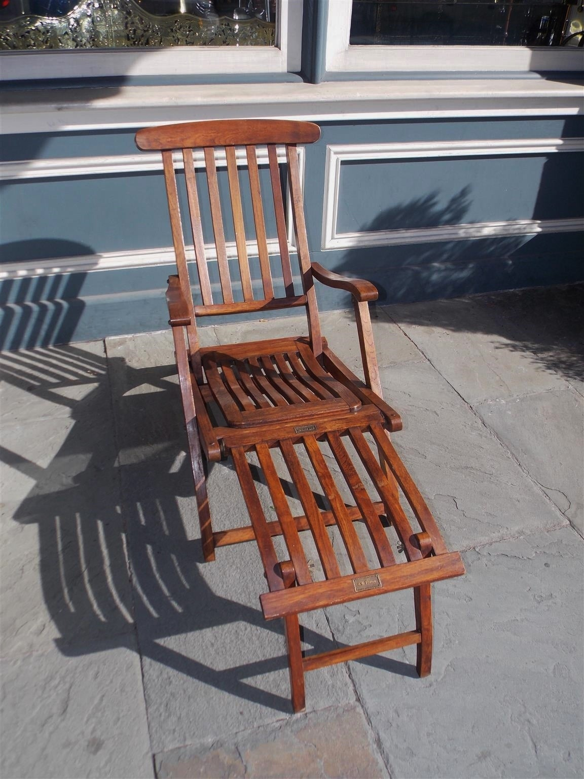 Pair Of French Teak Deck Arm Chairs Stamped Quot S S France