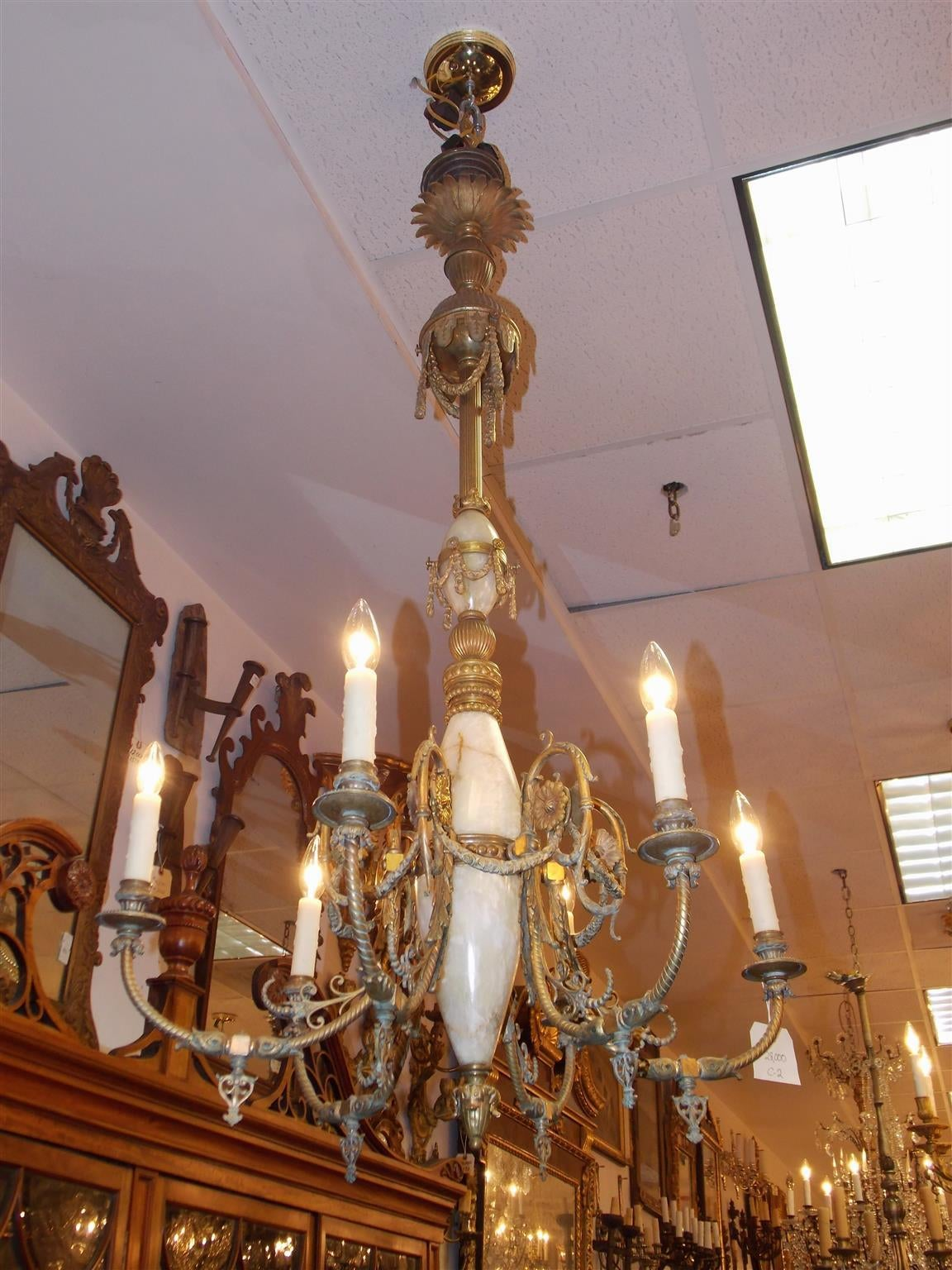 Italian gilt bronze and onyx chandelier circa 1840 for sale at 1stdibs neoclassical italian gilt bronze and onyx chandelier circa 1840 for sale arubaitofo Gallery