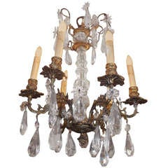French Gilt Bronze and Crystal Chandelier. Circa 1820