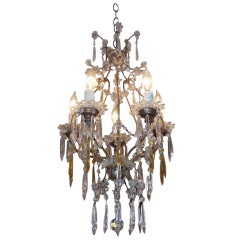 French Gilt Bronze and Crystal Chandelier.  Circa 1840
