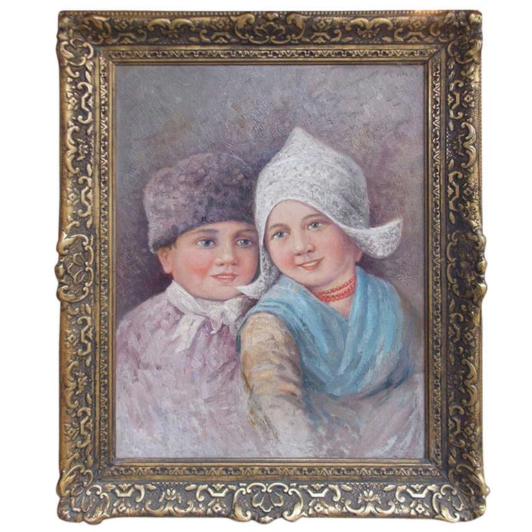 Dutch Oil on Canvas in Gilt Frame. Circa 1860