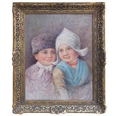 Dutch Oil on Canvas in Gilt Frame. Circa 1860