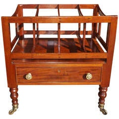 A Rare Large English Regency Mahogany Canterbury. Circa 1810