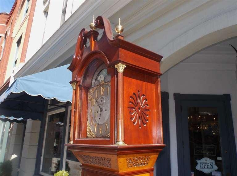 English Mahogany Tall Case Clock. Circa 1870 For Sale 2